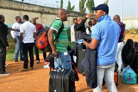 Беженцы из Нигерии, прибывшие в Норвегию (фото)