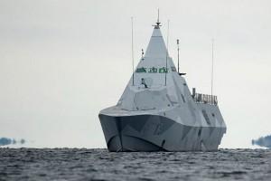Корвет HMS Visby патрулирует Стокгольмский архипелаг 19 октября 2014 г. (фото)