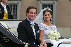 Кристофер О'Нил и принцесса Мадлен на своей свадьбе, 2013 г. (фото)