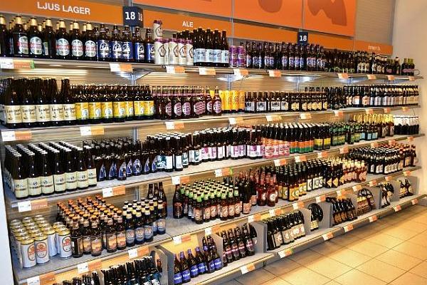 Внутри одного из магазинов Systembolaget (фото)