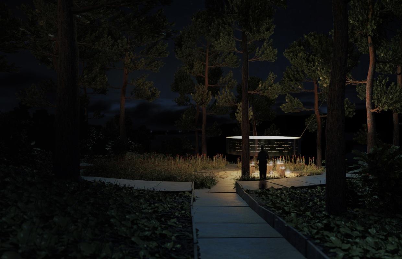 Компьютерная реализация мемориального объекта памяти жертв Брейвика на острове Утойя (фото)