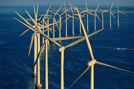 Ветряные фермы в Дании (фото)