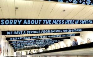 Расистские надписи в стокгольмском метро