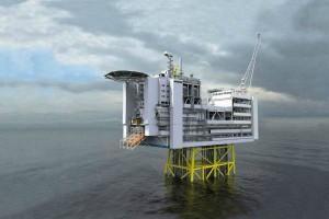 Платформа Lundin Petroleum на месторождении Эдвард Григ, Северное море