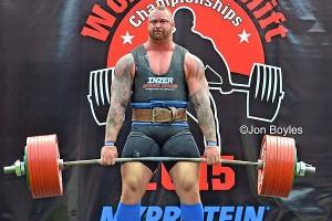 Хафтор Бьернссон устанавливает личный рекорд в становой тяге на соревнованиях Europe's Strongest Man Contest
