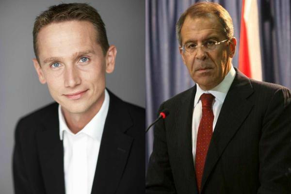 Главы МИД Дании и России Кристиан Дженсен и Сергей Лавров