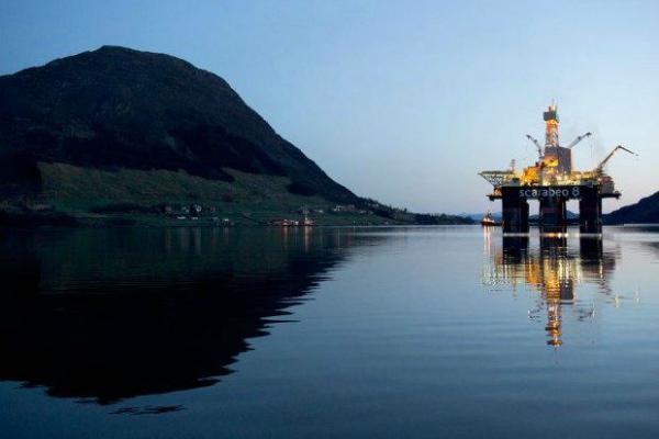 Норвежская нефтяная платформа в Северном море