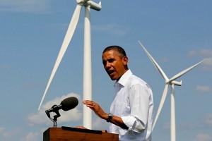 Барак Обама во время своей речи речи об экологии США