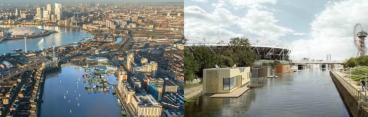 Концепт водного города Floatpolis на Темзе