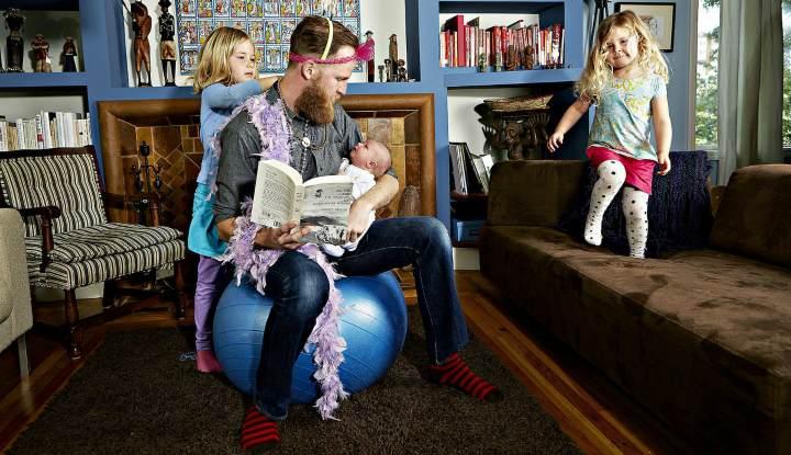 Шведский папа с детьми