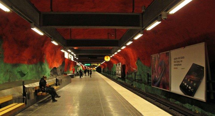 Стокгольмское метро, час пик