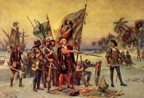 Жан Леон Жером Феррис. «Открытие Колумбом Сальвадора»