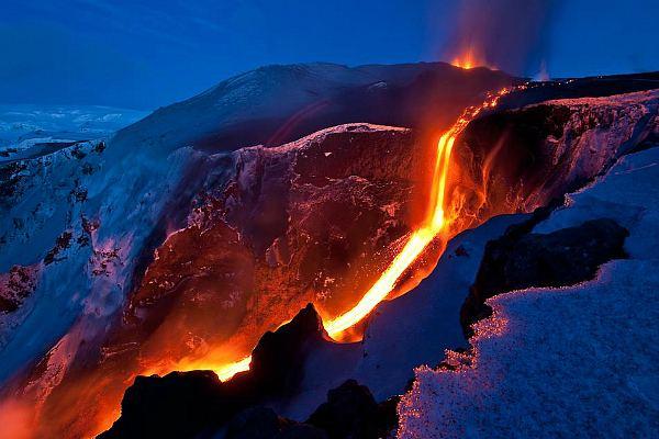 Действующий вулкан Фиммвёрдюхаулс