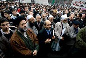Демонстрация мусульман в Копенгагене