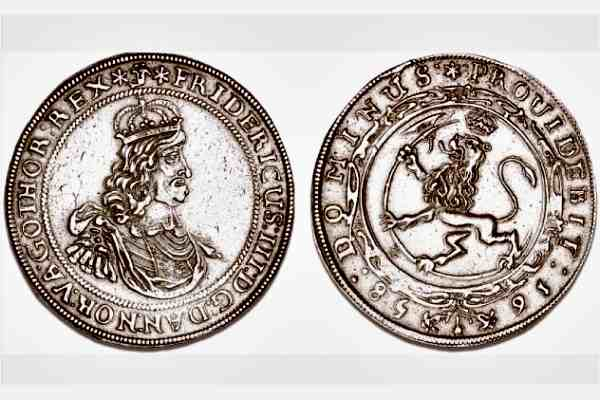 Норвежский двойной талер 1658 года