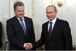 Президент Финляндии Саули Ниинистё на встрече с Владимиром Путиным