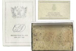 Ломтик торта со свадьбы принца Чарльза и леди Дианы. Частичка британской монаршей истории
