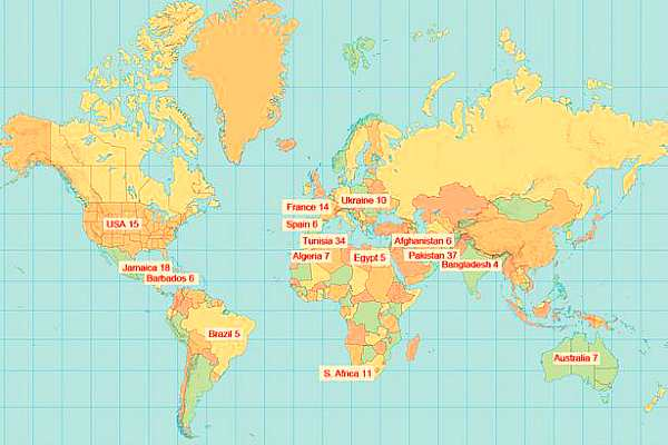 Самые смертельно опасные страны для туристов