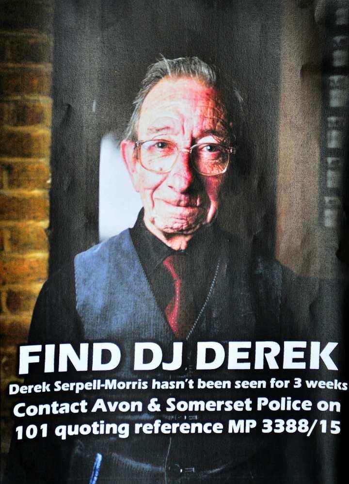 Плакат с информацией о поиске диджея Дерека