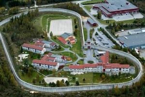 Тюрьма Шиен, в которой содержится Брейвик