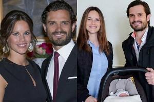 Принц Карл Филипп, его супруга принцесса София и их сын принц Александр Эрик Хубертус Бертиль