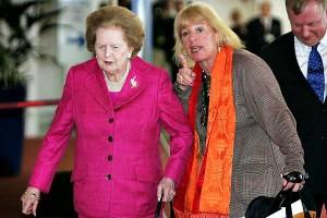 Маргарет Тэтчер и ее дочь Кэрол