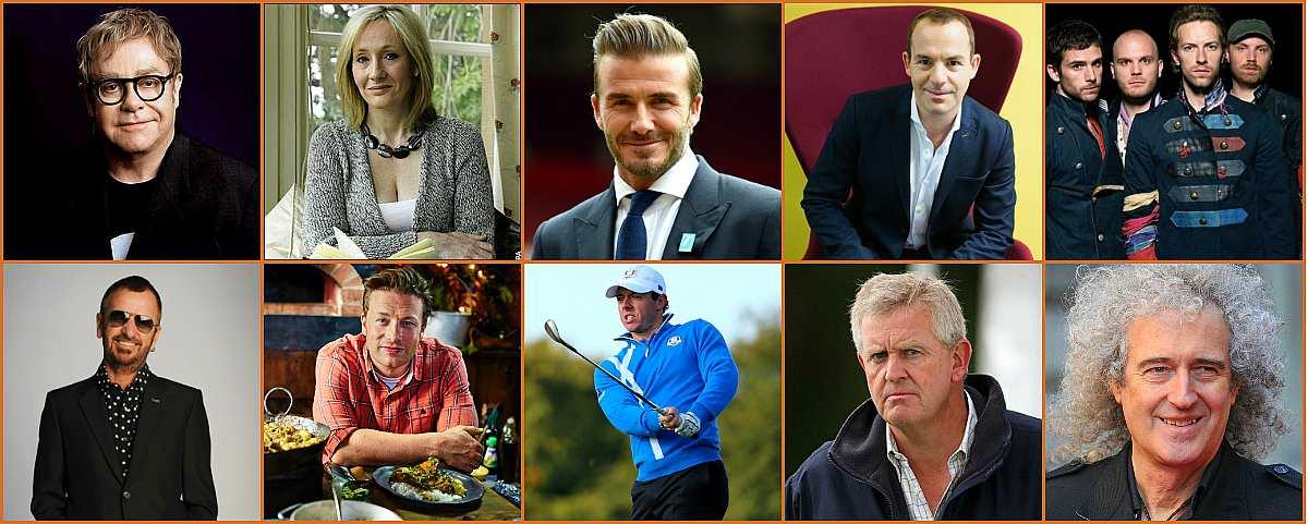 10 главных благотворителей Великобритании