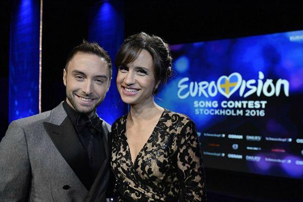 Ведущие «Евровидения 2016» Монс Сельмерлёв и Петра Меде