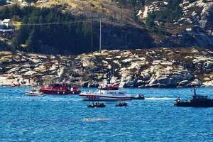 Катастрофа вертолета в Норвегии. Поиски 13 погибших
