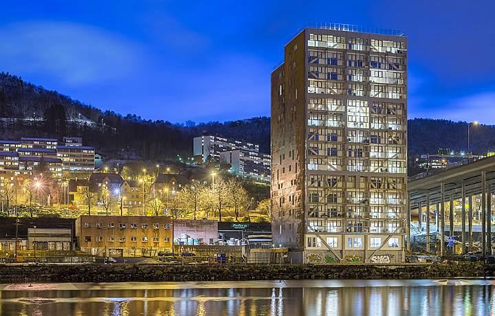 14-этажный деревянный дом в Бергене, Норвегия