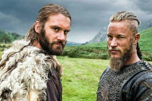 На съемках исторической драмы «Викинги»