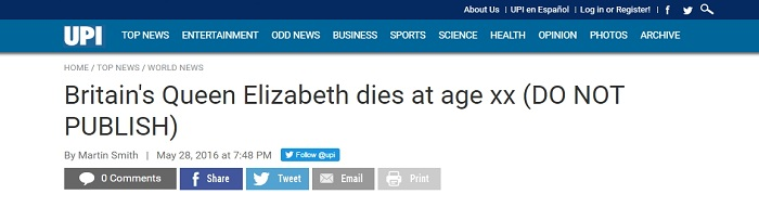Королева Елизавета II умерла