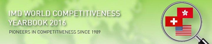 Рейтинг конкурентноспособности стран IMD World Competitiveness Yearbook 2016