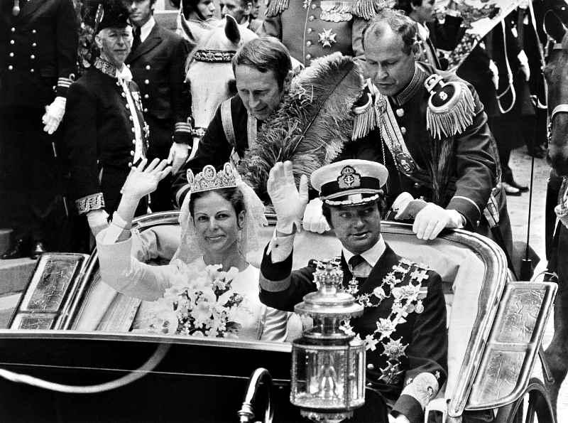 Свадьба Карла XVI Густава и Сильвии Зоммерлат 19 июня 1976 г.
