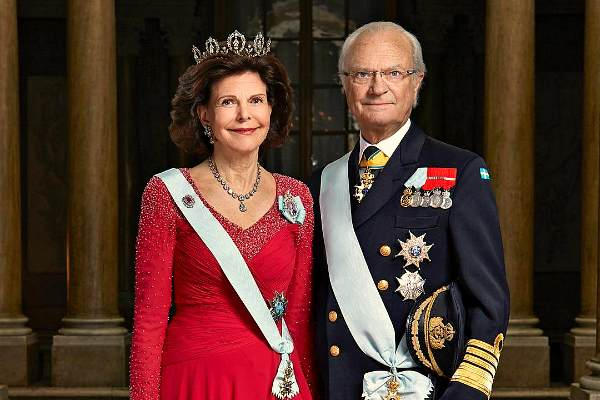 Король Швеции Карл XVI Густав и его супруга королева Сильвия