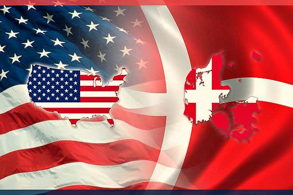 Флаги США и Дании