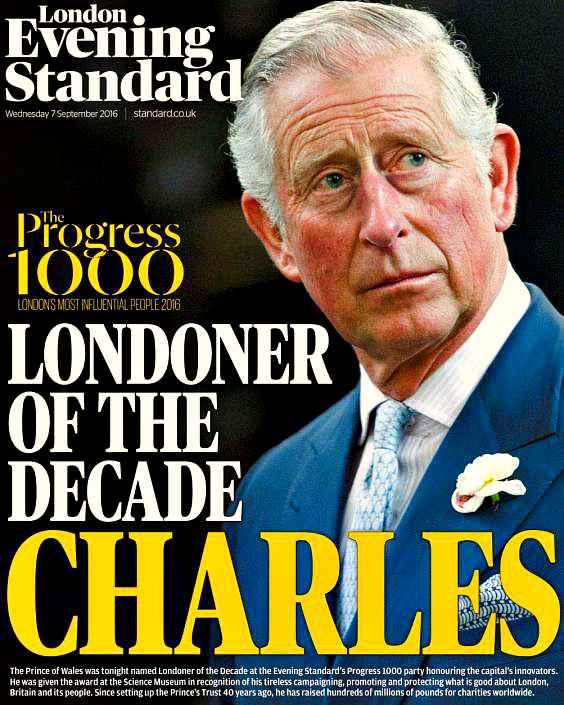 Принц Чарльз - лондонец десятилетия (London Evening Standard)