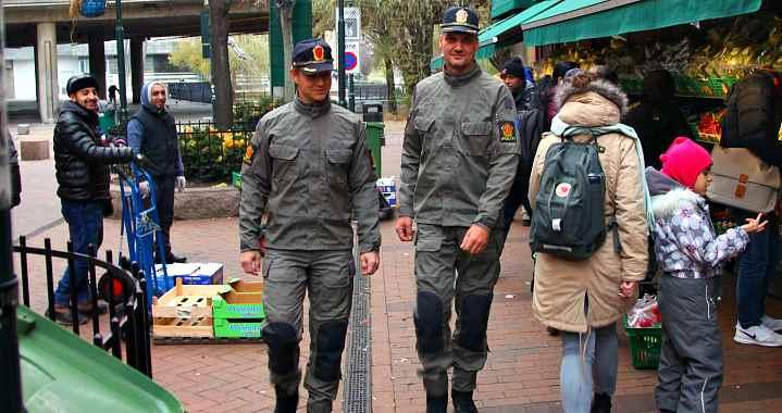 Норвежские полицейские в новой униформе