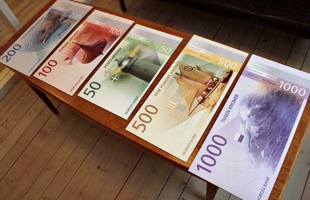 Норвежские банкноты на морскую тематику